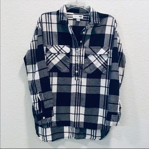 Old Navy Cotton Plaid Tunic
